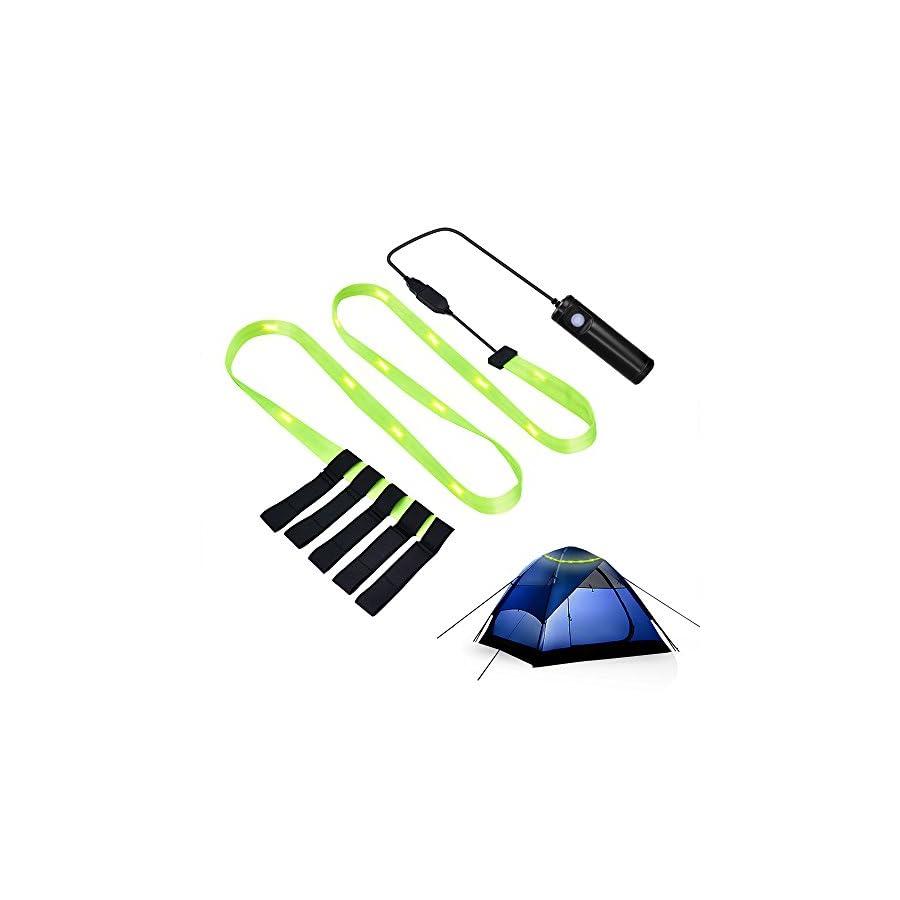 MAOZUA Portable USB Tent Light 18 PCS LED Emergency Light Flashlight Strip Light Battery Powered USB Rechargeable Outdoor Camping Hiking