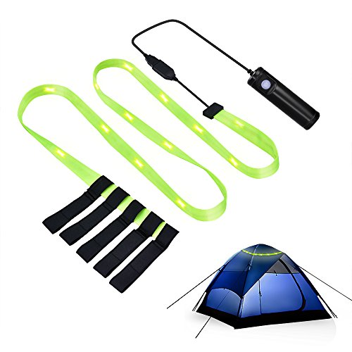 MAOZUA Portable USB Tent Light 18 PCS LED Emergency Light Flashlight Strip Light Battery Powered USB Rechargeable for Outdoor Camping Hiking