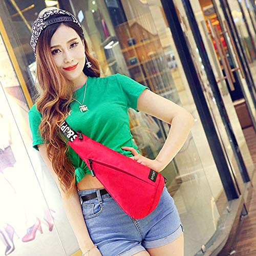 Florencenid Fashion Youth Leisure Chest Pack Multifunctional Triangle-Shaped Oxford Cloth Messenger Bags Casual Outdoor Crossbody Bags
