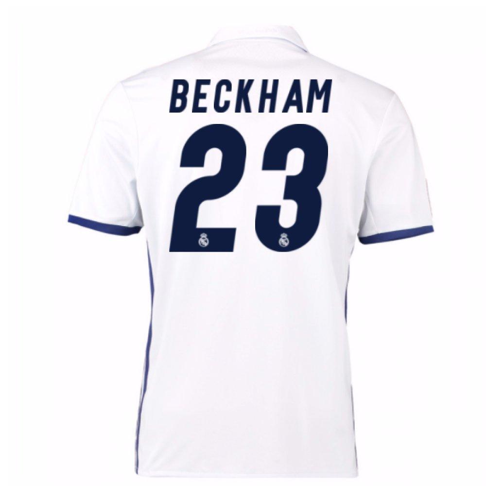 2016 – 17 Real Madrid Home Shirt (Beckham 23 ) B0785SBD3Dホワイト Large 42-44\