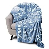 Blankiegram Mother Throw Blanket for Loving, Kind & Inspiring Moms | The Perfect Caring Gift (Blue)