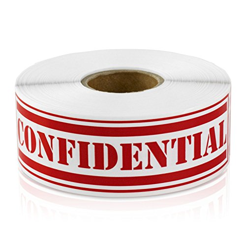 Confidential 1 x 4 Special Handling Instructions Labels Stickers (Red / 300 Labels per roll / 1 Rolls)
