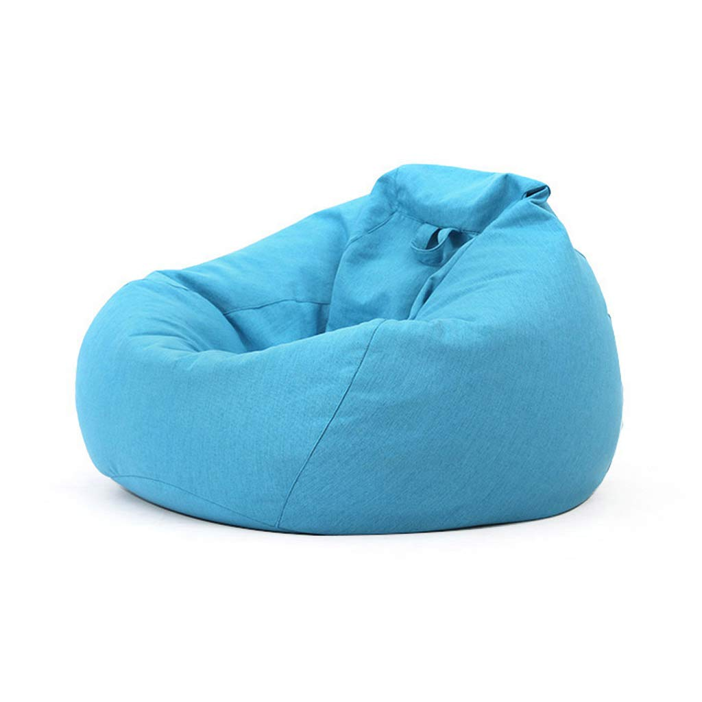 GY Bean Bag Chair, Lazy Sofa Sack, Particle Filling, Removable Cotton Linen, Suitable for Living Room Dormitory Adult, Child, 5 Colors, 3 Sizes (Color : Blue, Size : 90100cm) by GYlry