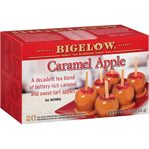Bigelow Caramel Apple Tea, 20 Teabags (Pack of 6), 120 Tea Bags Total. Caffeinated Individual Black Tea Bags, for Hot Tea or Iced Tea, Drink Plain or Sweetened with Honey ()