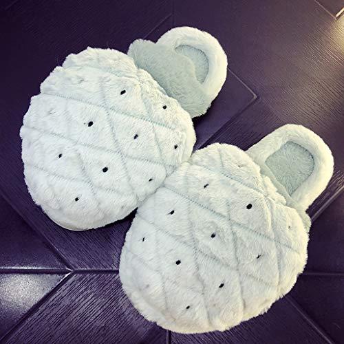 Spesso Femminile Di Coperta Casa Carino dimensioni Pantofole Moda Huyp Cotone Inverno Verde Fondo Antiscivolo 38 AwXzPqI
