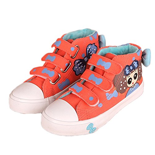Ausom 2017 Lastest Girls Cute Stylish Ankle-high Sneaker with Hand-painted Patterns