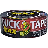 Duck Brand 240867 MAX Strength Duct Tape, 1.88 Inches by 35 Yards, Black, Single Roll