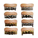 Best Fake Teeths - X Hot Popcorn 12 Pcs Funny Gold Teeth Review