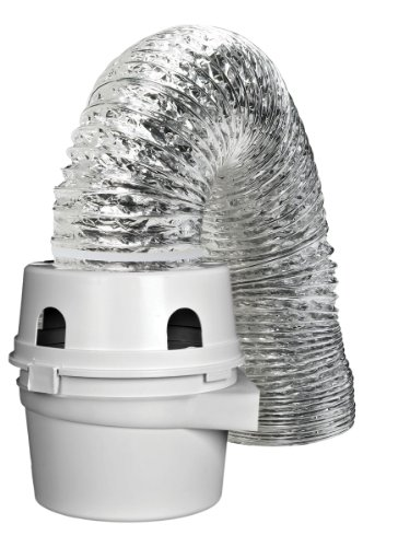 Dundas Jafine TDIDVKZW Indoor Dryer Vent Kit with 4-Inch by 5-Foot Proflex Duct, White