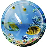 SupperAcryilc - 1/3 Gallon Betta Aquarium Decorations Fish Bowls Wall Hanging Mount Bubble Fish Tank With Undersea World Background For Home/Office/Wedding Wall Background Decoration