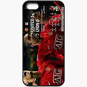 Personalized iPhone 5 5S Cell phone Case/Cover Skin 3t5q English Premier League 0910 The FA Manchester United Football Black