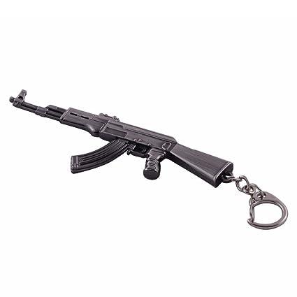 Mallofusa miniatura gris metal AK47 Rifle de asalto modelo ...