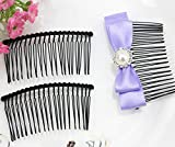 ASTONISH set of 75pcs Metal blank hair comb fascinator supply 3 inch long black - DIY millinery, bridal veil supply, hair