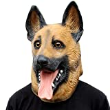 CreepyParty Deluxe Novelty Halloween Costume Party Latex Animal Head Mask Hound