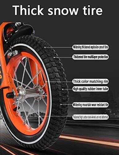 YSA キッズバイクキッズバイク、安全なダブルブレーキトレーニングホイール炭素鋼フレーム調節可能なサドルハンドル2-13歳の男の子と女の子12/14/16/18インチ
