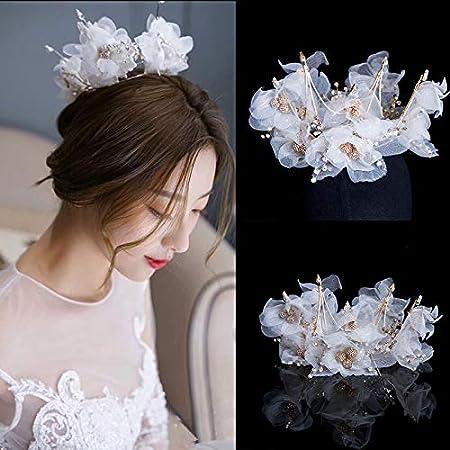 Flor del pelo de la boda de moda de alta calidad de la fiesta de graduación nuevo cristal cejas pelo anillo de diamantes