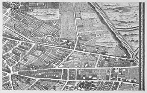 Posterazzi PDXMET12LARGE Paris 1739 Sectional map Poster Print by Michel-Etienne Turgot, 24 x 36