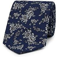 Paisley of London, Boys blue neckties, Boys slim neckties, Floral pattern