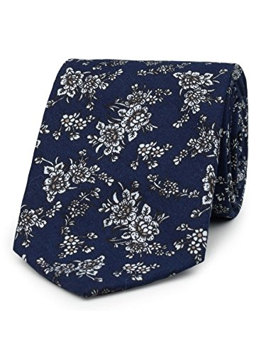 Floral Pattern Necktie - Paisley of London, Boys blue neckties, Boys slim neckties, Floral pattern