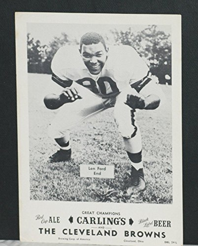 (1953 (3) Cleve Browns Carling Black Label Beer Premiums, Ford, Graham,Lavelli - Autographed NFL Photos)