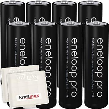 Kraftmax 8er-Pack - Pilas recargables (AA, BC4000, min 2500 mAh ...