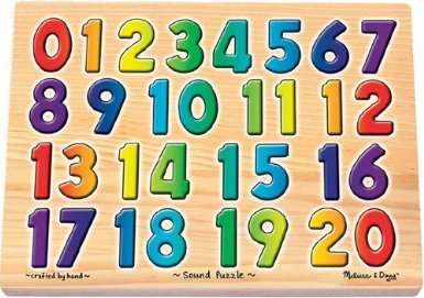 4 Pack MELISSA & DOUG SOUND PUZZLES NUMBERS