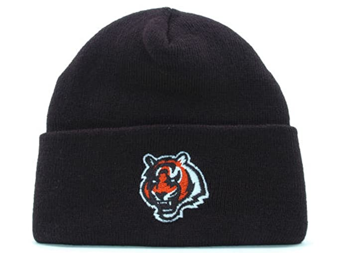 0cad4f43a78 Image Unavailable. Image not available for. Color  Cincinnati Bengals New  NFL Basic Cuffed Black Knit Hat- One Size Fits All OSFA