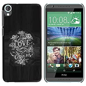 DIY PHONE CASE / Slim Protector Hard Shell Cover Case for HTC Desire 820 / Day Ink Tattoo Black by ruishername