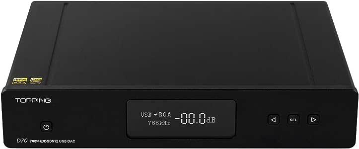 TOPPING D70 DAC AK44972 XMOS XU208 USB DSD512 Native 32Bit/768kHz Balance XLR Decodificador con Mando a Distancia: Amazon.es: Electrónica