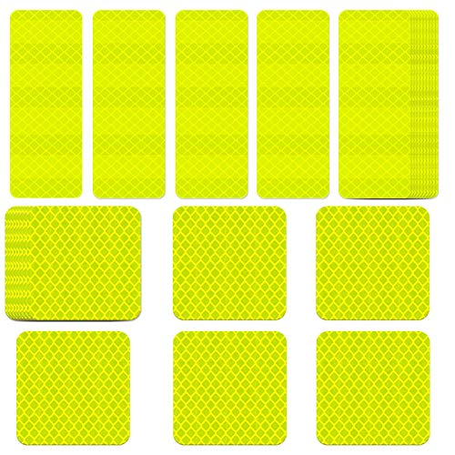 WENTS Reflective Sticker 20PCS Outdoor Waterproof, All-Weather, Highly Reflective Safety Stickers for Cars, Motorcycles & Other Safety Needs High Visibility and Safety at Night (Yellow Green)
