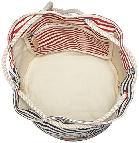 Tommy HilfigerBEACH Stripes Drawstring Bag - Borse a Tracolla Donna Multicolore (Mehrfarbig (Turtledove / Midnight / Scooter Red 910 910))