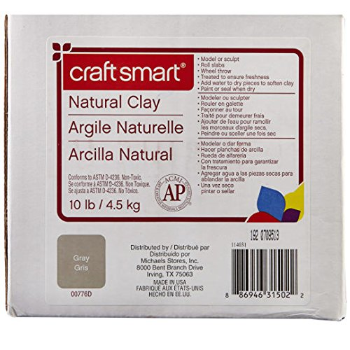 Natural Clay, 10 lb in Gray by Craft Smart