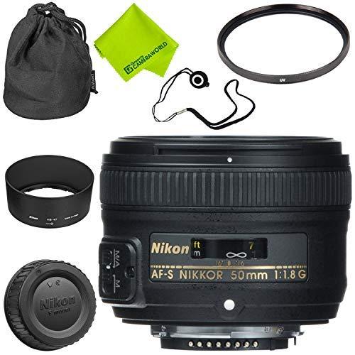 Nikon AF-S NIKKOR 50mm f/1.8G Lens Base Bundle (Nikon Af S 35mm F1 8g Dx)