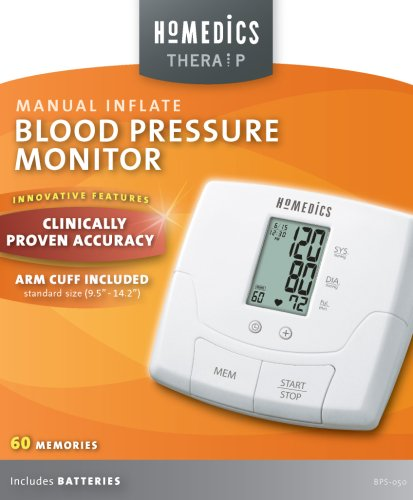 Amazon.com: HoMedics BPS-050 TheraP Manual Inflate Blood Pressure Monitor: Health & Personal Care