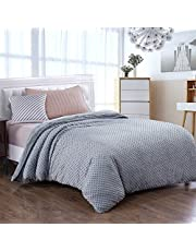 Royhom Duvet Cover for Weighted Blankets 60 x 80 Inches - Removable Weighted Blanket Cover - Premium Super Soft Minky Dot, Gray