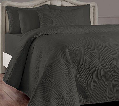 quilt set queen grey - 6