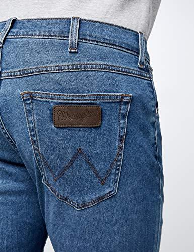 Uomo Blu Wrangler 91q Greensboro Stroke Jeans bright EpEUq