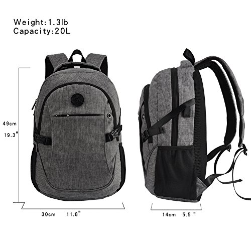 High School Backpack, 15.6'' College Business Travel Laptop Backpack by EASTERN TIME by EASTERN TIME (Image #3)