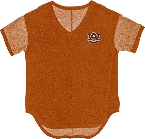 Blue 84 NCAA Auburn Tigers Adult Women NCAA Women's Premium Terry V Neck Tee,Medium,Orange