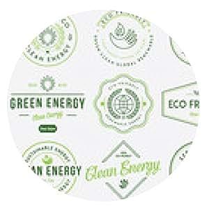alfombrilla de ratón Bio y Eco Energía de color 1 - ronda - 20cm