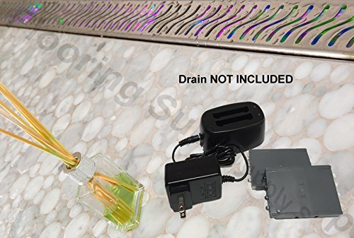 Royal Linear Drain Water Activated LED Lights (Multi-colored) (Steam Shower Light)