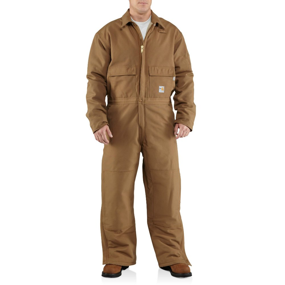 Carhartt Men's Flame Resistant Duck Coverall,Brown (Closeout),XX-Large Short