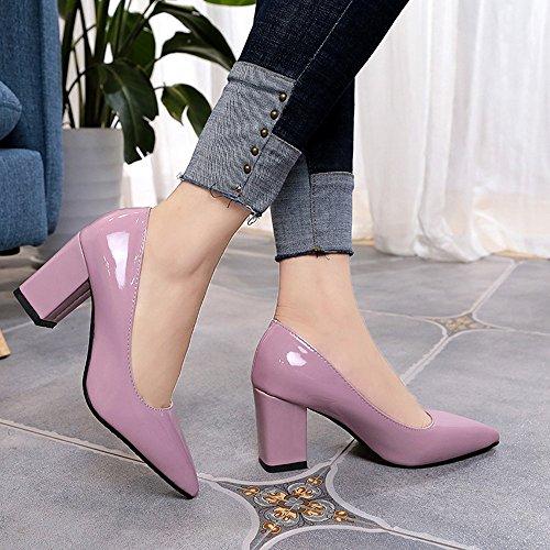 Pointues Femme Pour Carrés chaussures Et Pointus Talons À Orteils sandales Escarpin Aux Rose Femmes Hauts Chaussures gqw4gvUBc