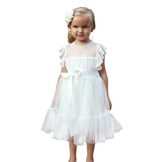 fd0c3d9a90c4 Think Pink Bows Little Girls Off-White Lace Tulle Paris Flower Girl Dress 2