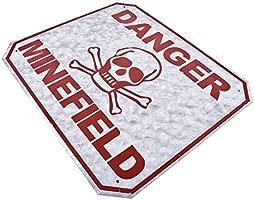 Dadeldo-Home Cartel de Chapa - Danger minef - Diseño de ...