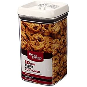 Better Homes And Gardens Flip Tite 10 Cup Square Container Easy Open Lid Kitchen