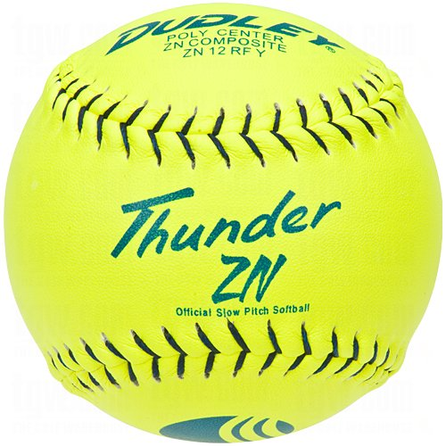 Dudley USSSA Thunder ZN Slow Pitch Softball - .40 COR - Classic M Stamp - 12 pack by Dudley