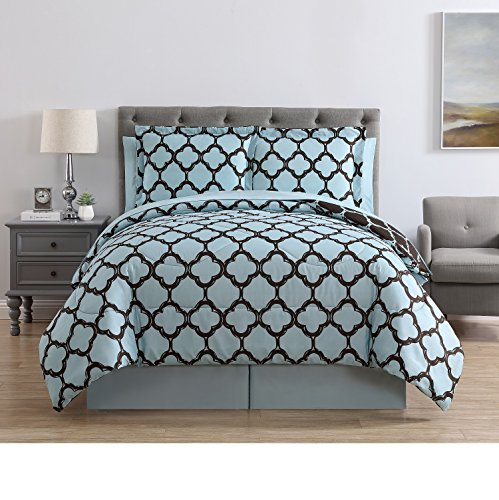 VCNY Galaxy 8-Piece Comforter Set, King, Blue/Chocolate by VCNY Home