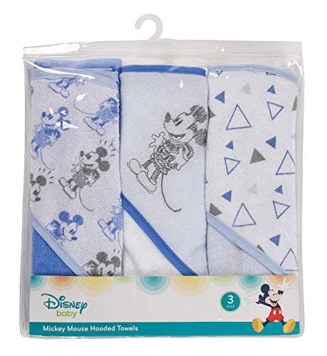 Disney Minnie Mouse 3Piece Infant Rolled Hooded Towel in PVC Bag (Mouse Hooded Minnie Disney Towel)