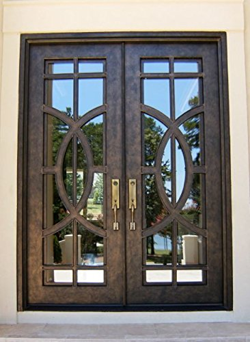 Oak Front Door (Custom Made Double Exterior Front Entry Double Wooden Glass Door - ITO DOORS)